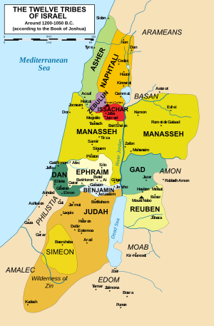 12 Tribes of Israel during Joshua's time