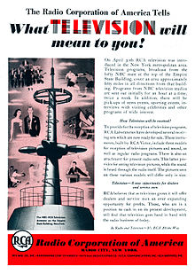 1939 RCA Television Advertisement.