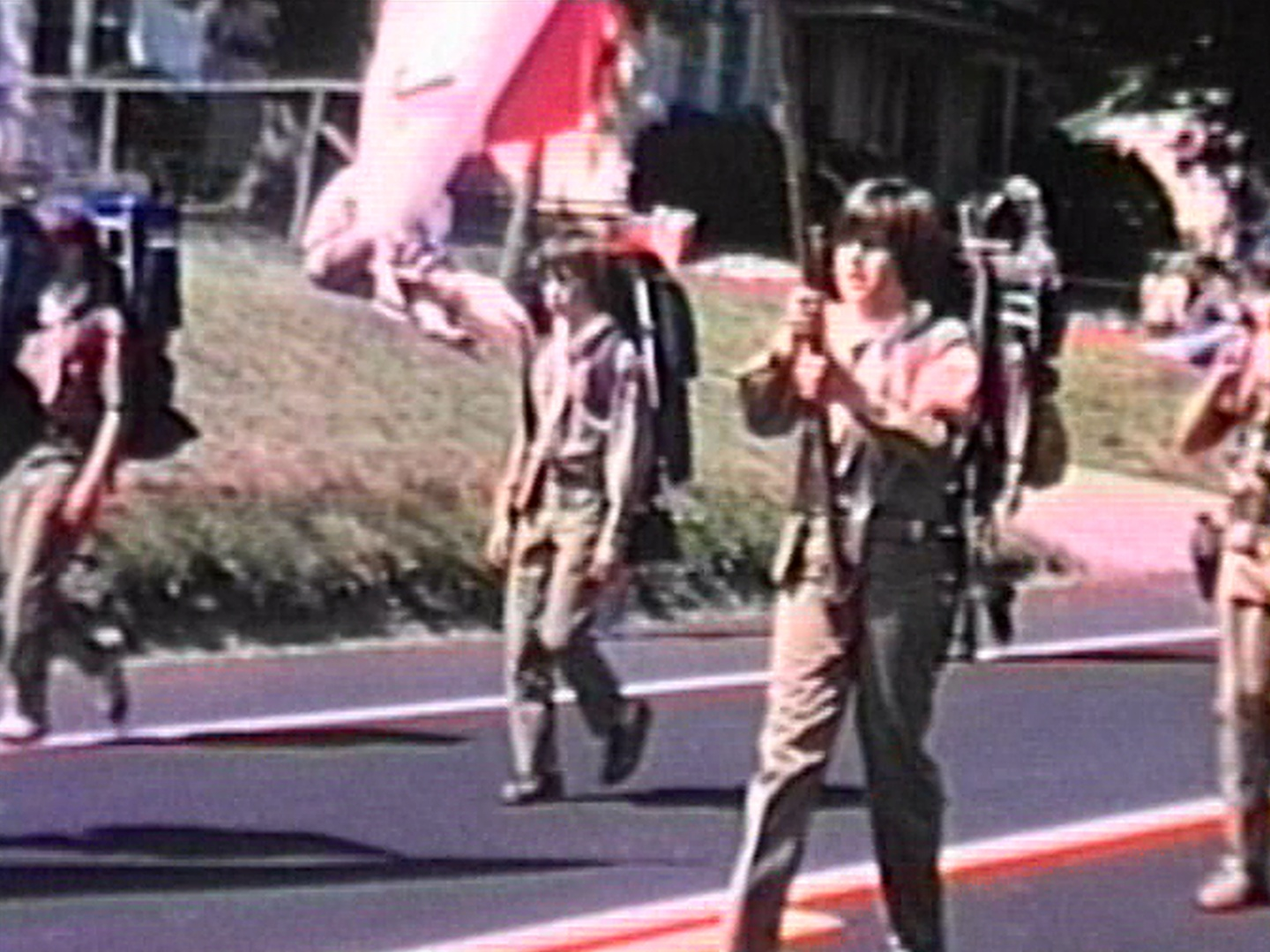 Boy Scouts parade 1976 in Ringoes, NJ.
