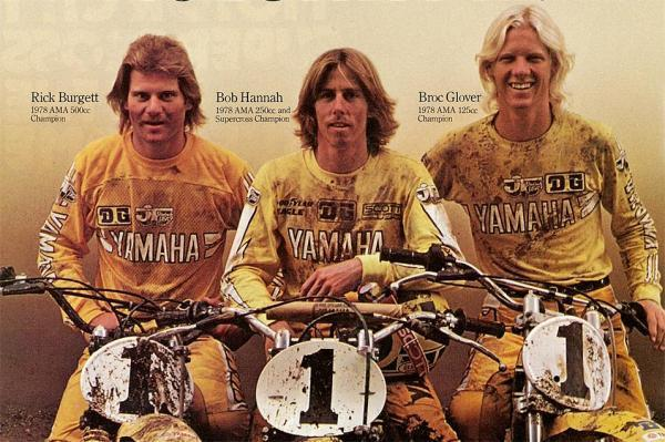 Rick Burgett, Bob Hannah and Broc Glover in 1978