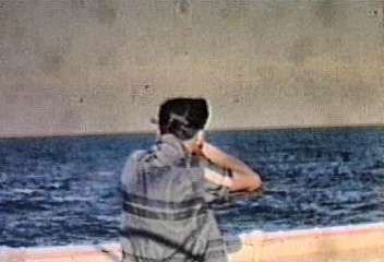 Cookie on trap shooting on cruise ship 1958.