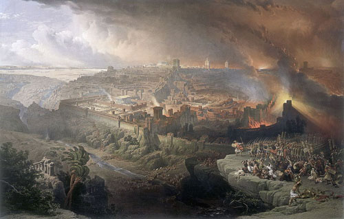 The Siege and Destruction of Jerusalem in 70 AD (David Roberts, 1850) Jerusale