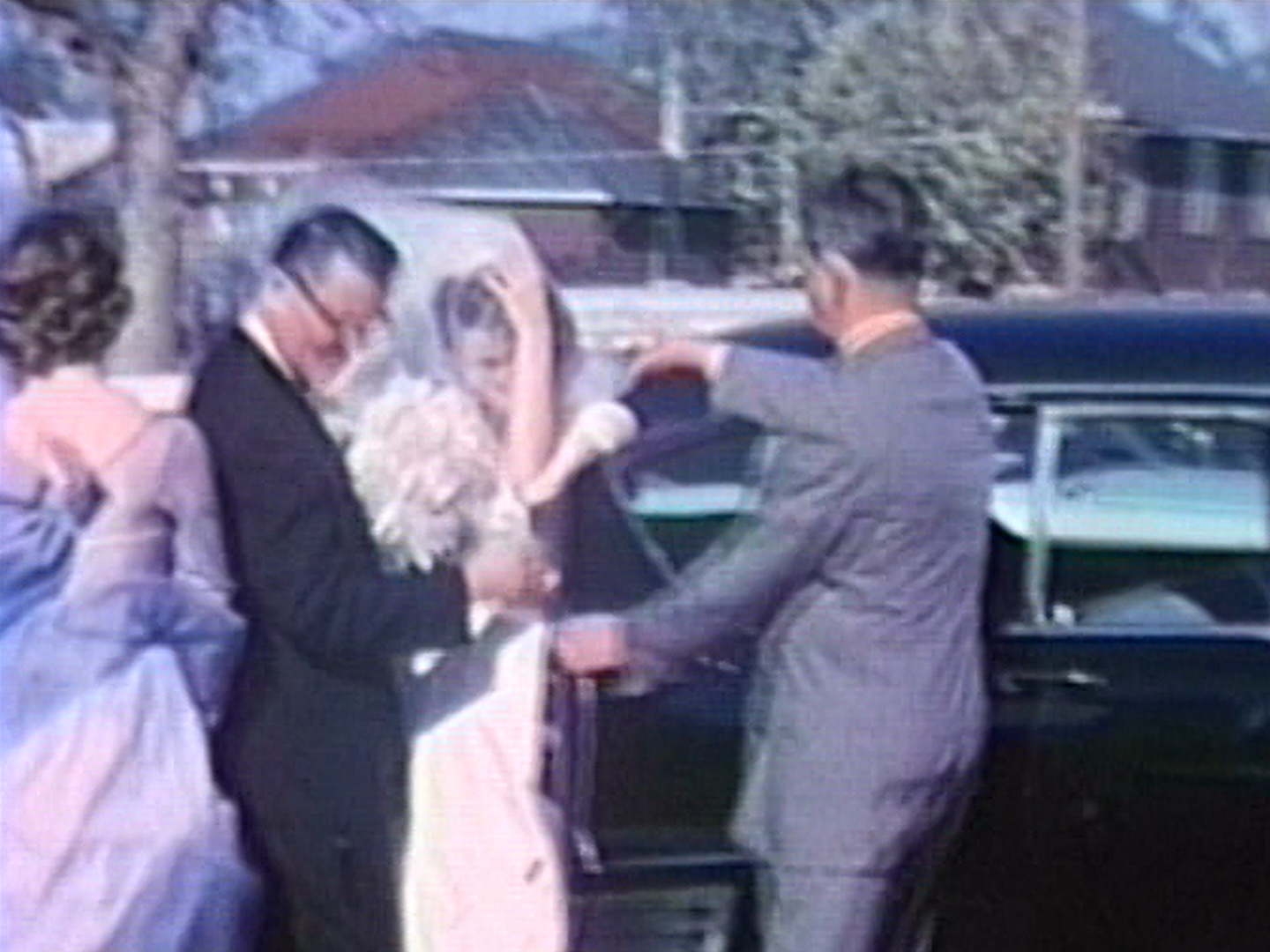 Dorothy Merkovich's wedding in April 1962.