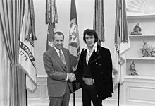 Elvis and President Nixon-Elvis gives Nixon a Colt .45 Pistol