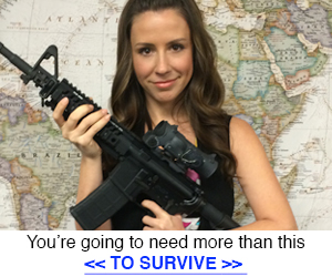 Empowered Woman with M4