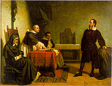 Galileo in front of a Roman Inquisition