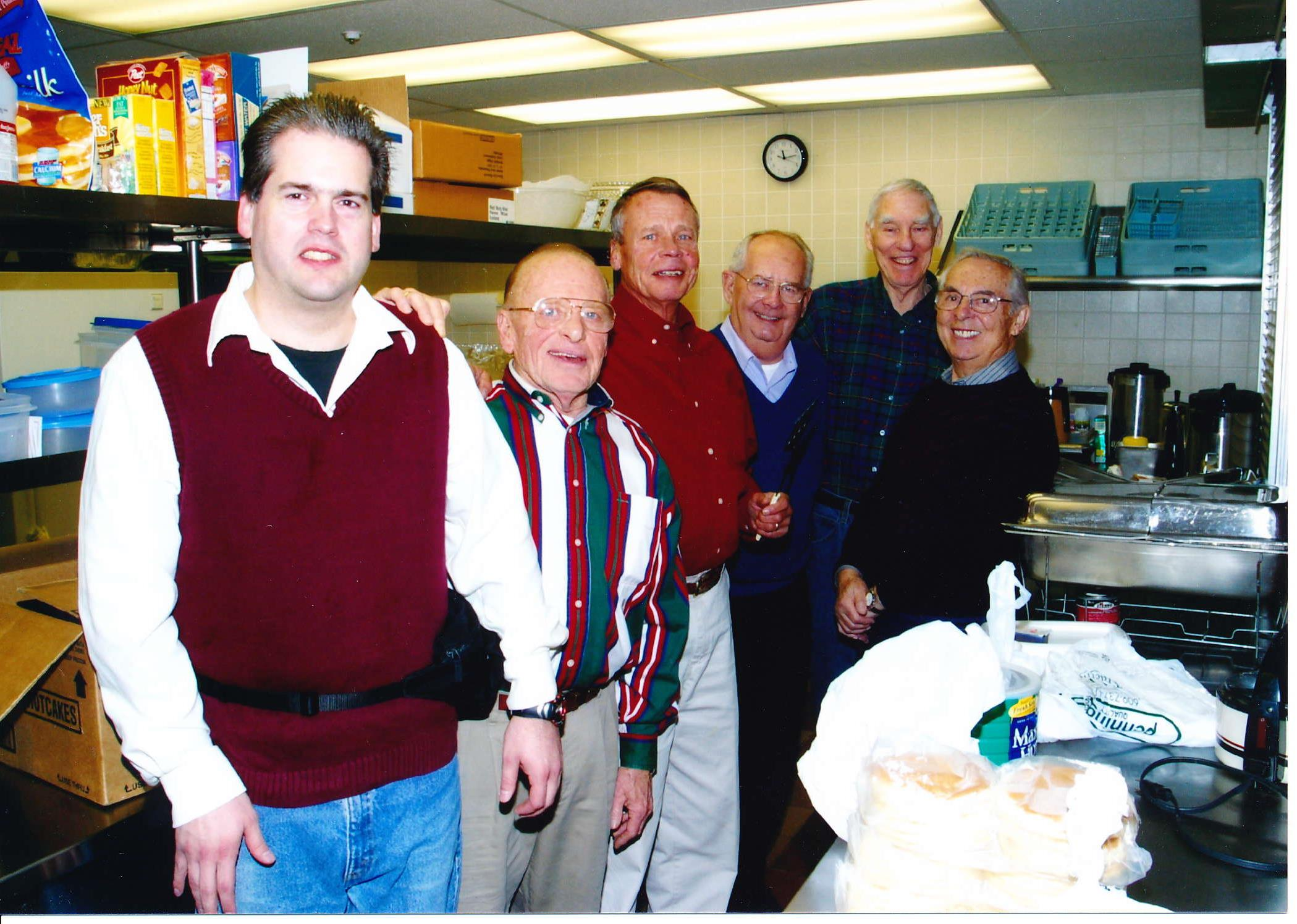 Kiwanis Club of Hopewell Valley-Pennington having a fundraiser at the Hopewell United Methodist Church in the early 2000s.