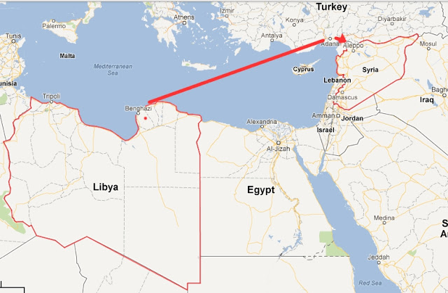 Libya and Syria Map