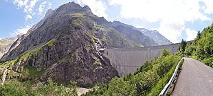 The Mauvoisin Dam in Switzerland