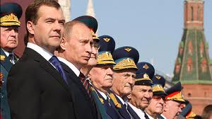 Russian President Medvedev and Putin