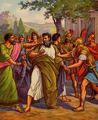 Apostle Paul arrested.