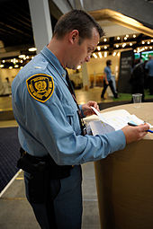 Security Guard in Copenhagen in 2009