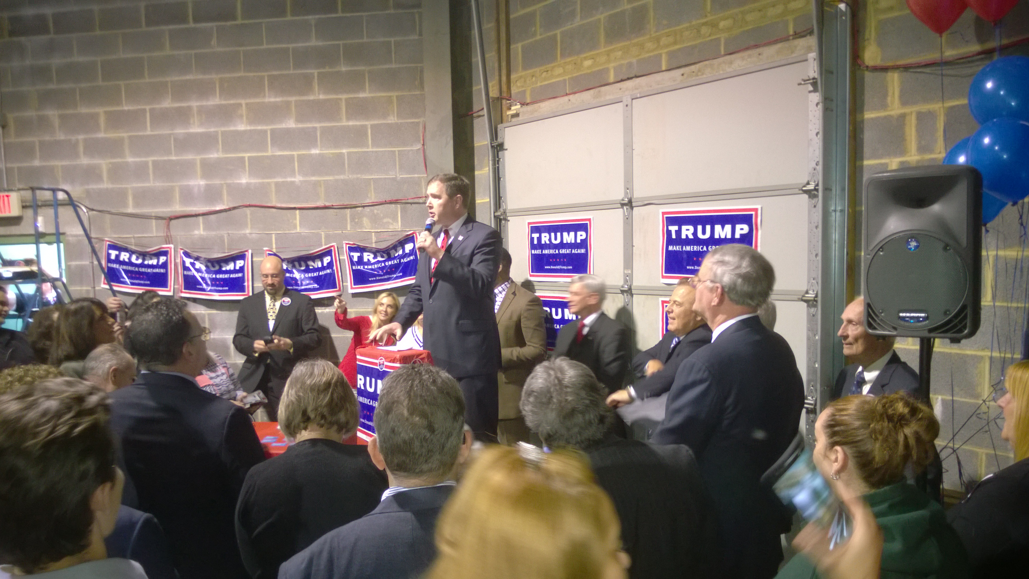 Senator Mike Doherty speaks in Edison, NJ on May 3rd, 2016 at the opening of the Trump headquarters in Edison, NJ