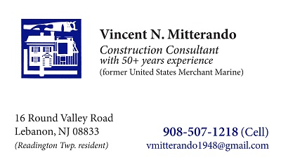 Vincent Mitterando--Construction Consultant in Readington twp.