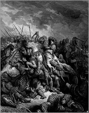 King Richard the Lion-Heart at the Battle of Arsuf in 1191 by Gustave Dore